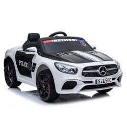 Imagens de Carro Elétrico Mercedes SL500 Polícia 12V Bateria c/ Comando Branco