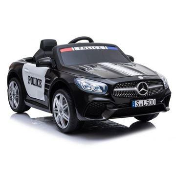 Imagens de Carro Elétrico Mercedes SL500 Polícia 12V Bateria c/ Comando Preto